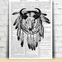 Dreamcatcher poster Ethnic decor Native American print  TO195