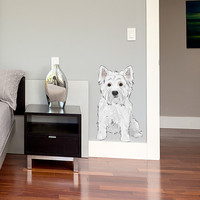 Westie Wall Decal