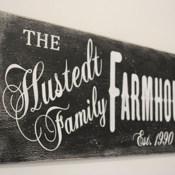 Farmhouse Wood Sign Housewarming Gift Wedding Gift Bridal Shower Gift Anniversary Gift Black And White Wall Decor Wall Art Primitive Wood