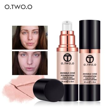 O.TWO.O 4colors Full Coverage Make Up Liquid Foundation Concealer Whitening Moisturizer Oil-control Waterproof Liquid Foundation