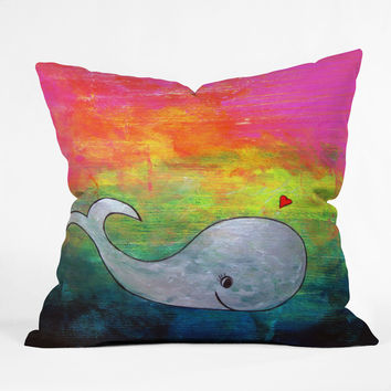 Sophia Buddenhagen I Whale Always Remember You Outdoor Throw Pillow