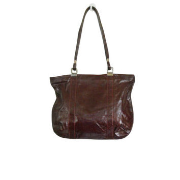 Vintage Oxblood Purse Pocketbook Leather Bag Ladies Bag Ladies Purse Leather Purse Women Purse Medium Size Purse Women Accessories