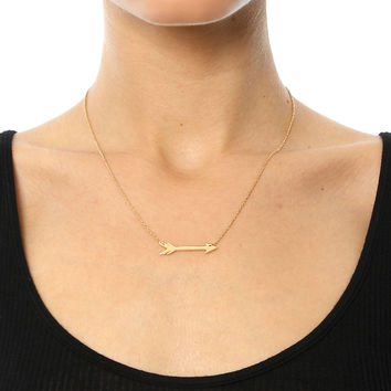 "MONTANA 1"" HORIZONTAL ARROW NECKLACE"