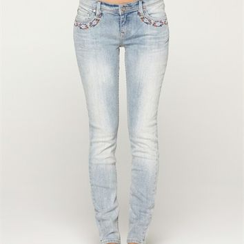 SUNBURNERS EMBROIDERED JEANS