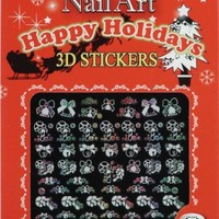 HAPPY HOLIDAYS NAIL DECAL NSB-12-MW