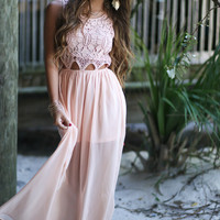 Hawaiian Babe Blush Maxi Dress