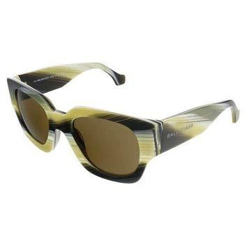 ONETOW balenciaga mustard grey striped square sunglasses 2