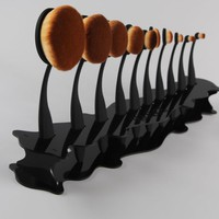 Makeup Cosmetic Organizer Display Stand For Toothbrush Foundation Brush Shelf Tool G6823