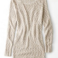 AEO Women's Marled Jegging Sweater (Brown)