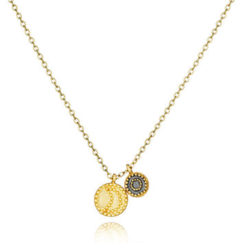 Gunmetal And Gold Celestial Necklace - Twilight
