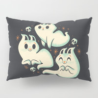 Ghost Cats Pillow Sham by therewillbecute