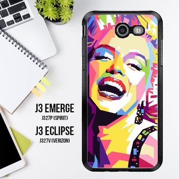 Andy Warhol Marilyn Monroe Pop Art Y0372 Samsung Galaxy J3 Emerge, J3 Eclipse , Amp Prime 2, Express Prime 2 2017 SM J327 Case