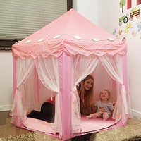 Portable Children's Tent For Kids Toy Princess Wigwam Ball Pool Castle Play House Girls Boys Foldable Playtent Baby Beach Tents
