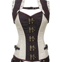 steampunk corset and jacket stunning clubwear lingerie comicon cyber rockabilly