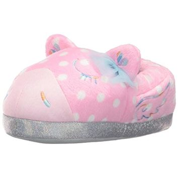 Trimfit Girls Magical Pony Polka Dot Casual Novelty Slippers