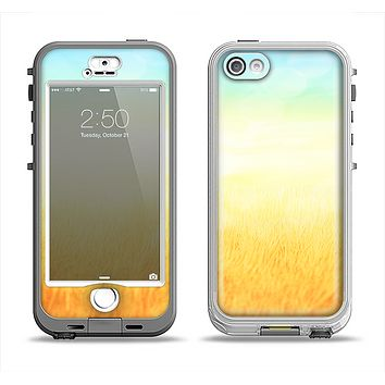 The Painted Tall Grass with Sunrise Apple iPhone 5-5s LifeProof Nuud Case Skin Set