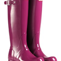 Hunter Original Tall Gloss Wellington Boots - Violet | Country Attire
