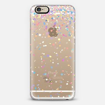 Party Confetti Burst Transparent iPhone 6 case by Organic Saturation | Casetify