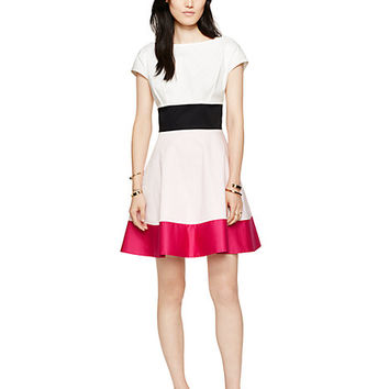 Kate Spade Colorblock Fiorella Dress Pink Multi