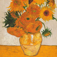 Vincent Van Gogh Sunflowers Les Tournesols Poster 24x36