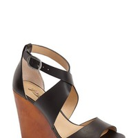 Women's Lucky Brand 'Lyndell' Leather Wedge,