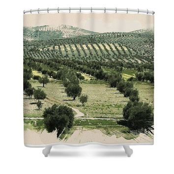 Watercolor Landscape Of Kurdistan - Shower Curtain