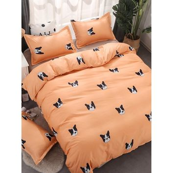 Cartoon Dog Print Sheet Set