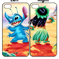 Disney Stitch and Lilo dancing Z0014 Couple iPhone 4S 5S 5C 6 6Plus, iPod 4 5, LG G2 G3 Nexus 4 5, Sony Z2 Couple Cases