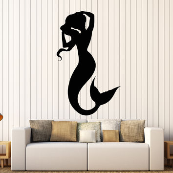 Wall Vinyl Decal Sexy Mermaid Cool Decor For Bathroom Sea Ocen Interior Unique Gift z4070