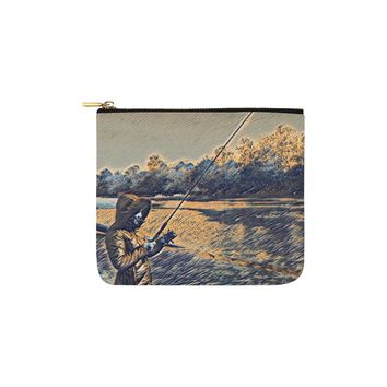 Levi Thang Fishing Design 18 Carry-All Pouch 6''x5''