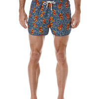 FIXED BOX ALL OVER FLORAL DOLPHIN SWIM SHORT