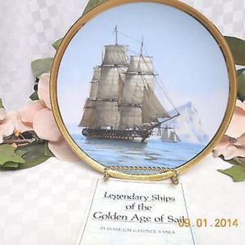 """The franklin Mint The Great Ships of the Golden Age """"The Independence"""" Plate"""