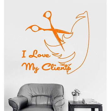 Vinyl Wall Decal Hairdresser Quote Hair Salon Stylist Barber Stickers Unique Gift (ig4003)