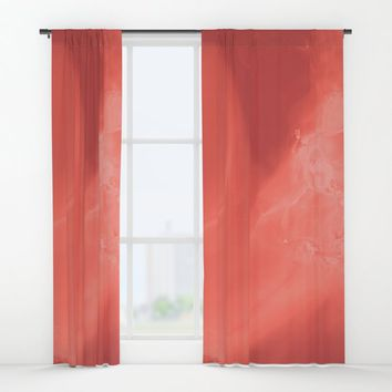 Coral gradient Window Curtains by duckyb