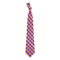Clemson Tigers NCAA Check Poly Necktie