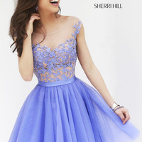 Sherri Hill 11171 Short Cap Sleeve Prom Dress