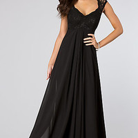 Black Sleeveless Long Formal Dress by Mori Lee