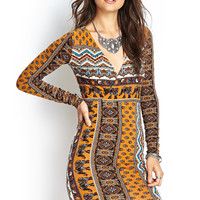 Boho Elephant Surplice Dress