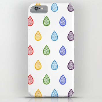 Rainbow raindrops iPhone & iPod Case by Savousepate