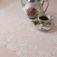 14X36 Tea Rose Table Runner