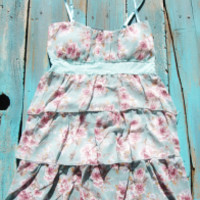Western Flower Dress With Lace   Elusive Cowgirl