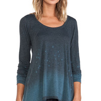 Saint Grace Long Sleeve Scoop Top in Gray