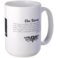 Edgar Allan Poe/The Raven Large Mug by eapoe2- 14741613