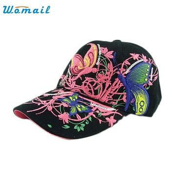 Womail Good Deal  New Fashion Good Quality Embroidered Women Baseball Cap Lady Shopping Hat Sunscreen Cap Gift 1PC