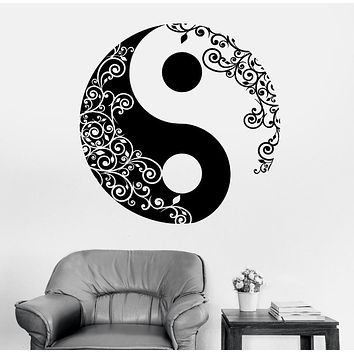 Mandala Wall Sticker Home Decal Buddha Yin Yang Floral Yoga Meditation Vinyl Decal Wall Art Mural Home Decor Decoration D175