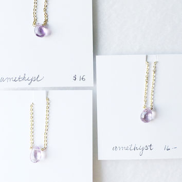 Faceted lavender amethyst drop - trunk show