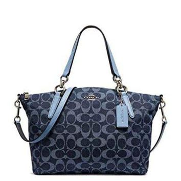 COACH Small Kelsey Satchel in Signature Denim, F25891