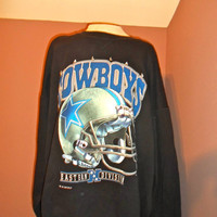 90s Dallas Cowboys Crewneck Sweatshirt, Vintage NFL Football SZ XL Big and Tall
