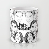 Parks and Recreation 'Rec a Sketch' Mug by Moremeknow