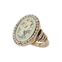 Cream Cameo Ring - Jewellery  - Accessories